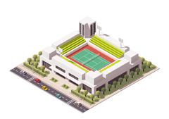 Vector isometric tennis arena Stock Illustration