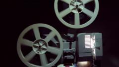 Close up of an old projector on the side. Stock Footage