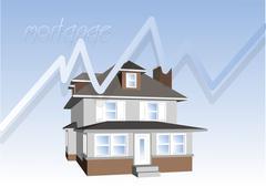 mortgage consept - stock illustration