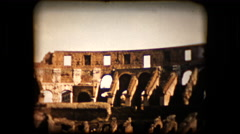 Footage of the roman colesseum taken in 1955 Stock Footage