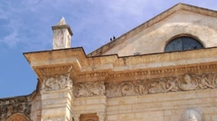 Exterior detail of the Cathedral in Santo Domingo, Dominican Republic. Stock Footage