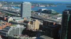 Elevated view of cityscape during daytime, Toronto, Ontario, Canada Stock Footage