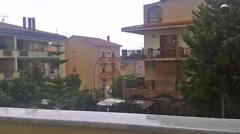 Rainy day in Alghero, Sardinia Stock Footage