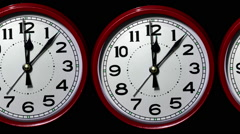Time passing. Time lapse clock faces. Stock Footage