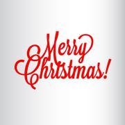 Merry Christmas header - stock illustration