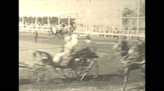 Stock Video Footage of Vintage 16mm film, 1925, US Roaring 20s, horse event trotters #3
