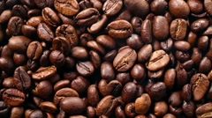 Stock Video Footage of Roasting Coffee Beans