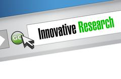Innovative research online sign concept Piirros