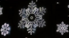Christmas symbols Led lights. Stock Footage