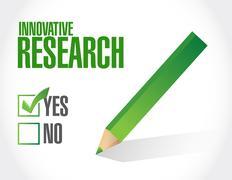 innovative research approval sign concept - stock illustration