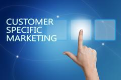 Customer Specific Marketing Stock Illustration