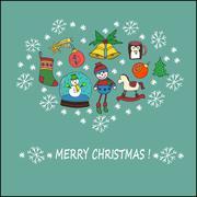 Christmas celebration concept Stock Illustration