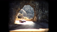 Footage of a TR2 Triumph roadster sports car - stock footage