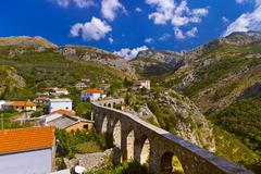 Aqueduct in Bar Old Town - Montenegro - stock photo