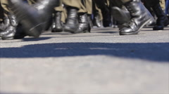 Soldiers feet boots Stock Footage