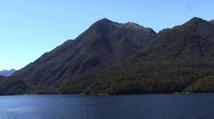 Milford Sound New Zealand sunny scenery Stock Footage
