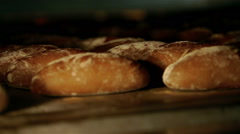 Bread form the oven - stock footage