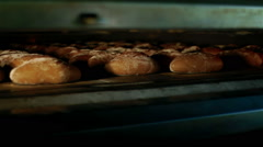 Bread form the oven Stock Footage