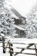 Fantastic winter landscape - stock photo