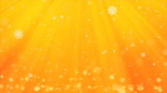 Gold Christmas Background and Winter Snow Fall with seamless loop. Stock Footage