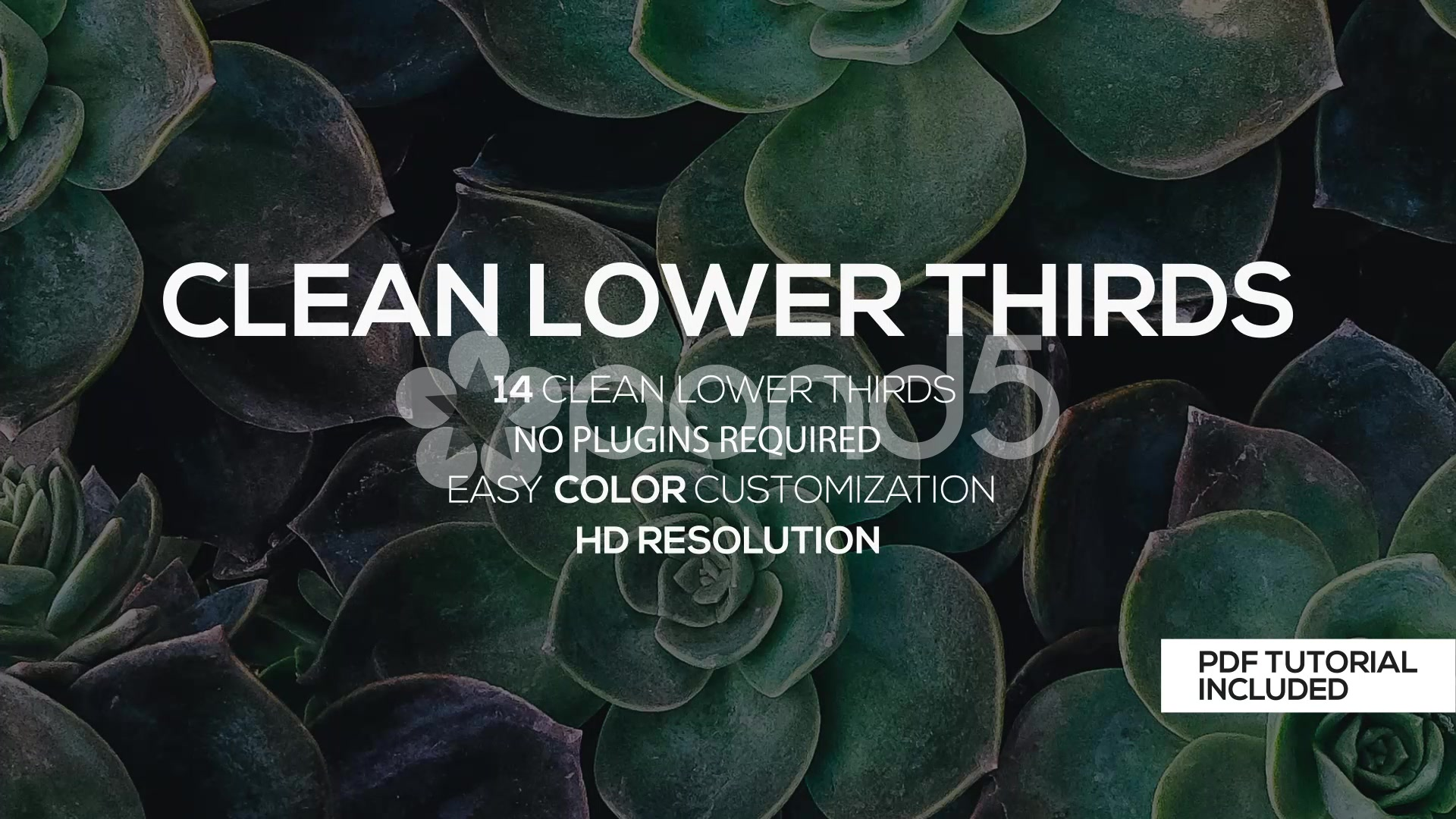 After Effects Project - Pond5 Clean Lower Thirds 58228951