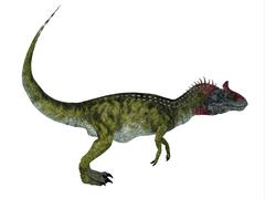 Cryolophosaurus Side Profile Stock Illustration