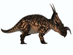 Einiosaurus Side Profile Stock Illustration