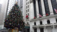 New York Stock Exchange Establishing Shot - stock footage