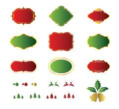 Stock Illustration of Blank christmas labels and element design