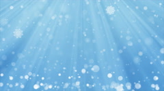 Blue Christmas Background and Winter Snow Fall with seamless loop. Stock Footage