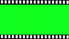 Stock Video Footage of film strip over lay loop green screen