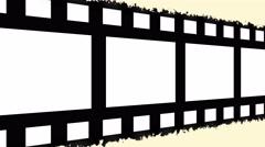 filmstrip panning across seamless loop with damaged film - stock footage