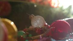 Christmas balls,Christmas background - stock footage