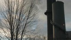 Industrial scene in Minneapolis, MN. Ungraded Stock Footage