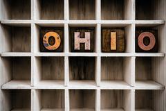 Ohio Concept Wooden Letterpress Type in Drawer Kuvituskuvat