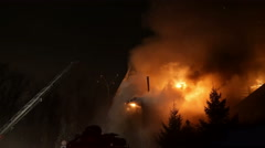 House on fire. Inferno conflagration. - stock footage