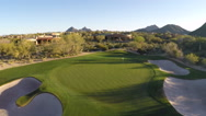 Stock Video Footage of Golf Course Aerial - approaching course in early morning 2