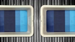 Empty Bins at an Airport Security X-Ray Machine Stock Footage