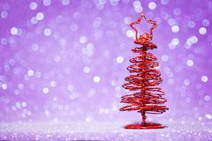 Red christmas fir tree decoration Stock Photos
