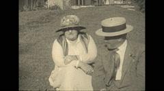 Vintage 16mm film, 1925, US Roaring 20s, b-roll people - stock footage