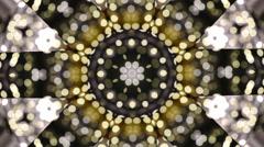 Kaleidoscope pattern abstract blinking lights - stock footage
