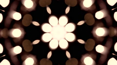 Abstract blinking lights pattern red Stock Footage