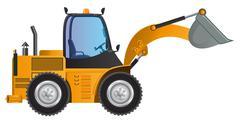 Loader yellow car vector design model - stock illustration
