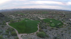 Golf Course Aerial 2 - Fly along the beautiful fairways Stock Footage