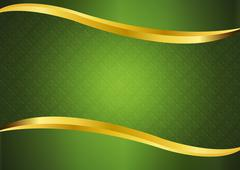 Stock Illustration of Luxury green with gold lines background vector design