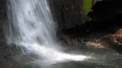 View of La Fortuna Waterfall in a forest, Alajuela Province, Costa Rica Stock Footage
