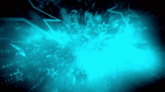 Bue music and stars loop - stock footage