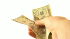 Cash In Hand Stock Footage