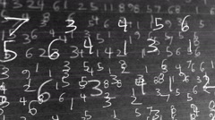 mysterious numbers number black and white 2 - stock footage