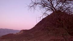 Red desert landscape pan Stock Footage